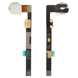 Flat Cable for Apple iPad Mini Tablet, ( earphones connector, with component, white)