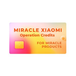 Créditos Miracle Xiaomi (únicamente para propietarios de dongles Miracle)