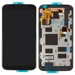 Дисплей для мобильных телефонов Motorola XT1092 Moto X (2nd Gen), XT1093 Moto X (2nd Gen), XT1094 Moto X (2nd Gen), XT1095 Moto X (2nd Gen), XT1096 Moto X (2nd Gen), XT1097 Moto X (2nd Gen), черный, с сенсорным экраном, с рамкой, оригинал (переклеено стекло)