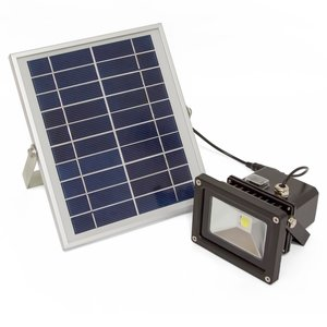 Вуличний LED прожектор SL-310 (з сонячною панеллю, 1000 лм, 4400 мАг, 6000-6500 K, холодний білий)