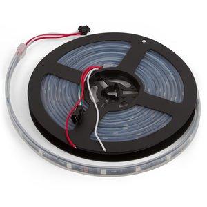 Світлодіодна стрічка RGB SMD5050, WS2811 (чорна, з управлінням, IP67, 12 В, 60 діодів/м, 5 м)