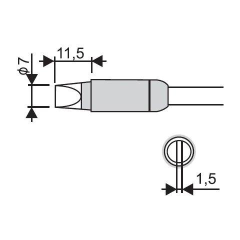 Soldering Iron Tip Goot RX 85HRT 7D