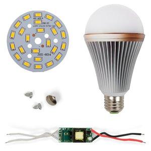 Комплект для сборки светодиодной лампы SQ-Q24 12 Вт (теплый белый, E27), диммируемый