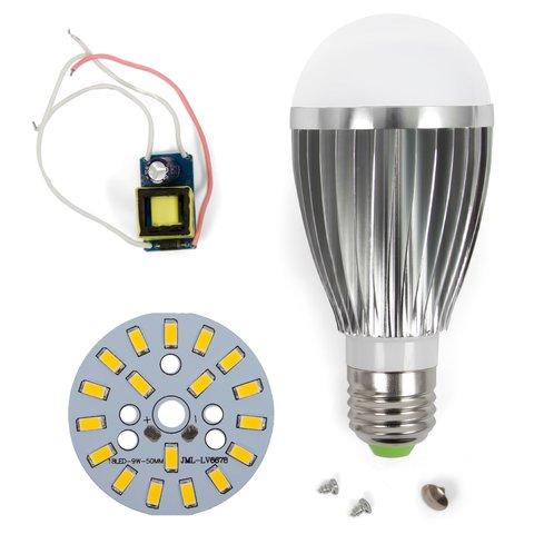 LED Light Bulb DIY Kit SQ Q03 9 W warm white, E27 , Dimmable